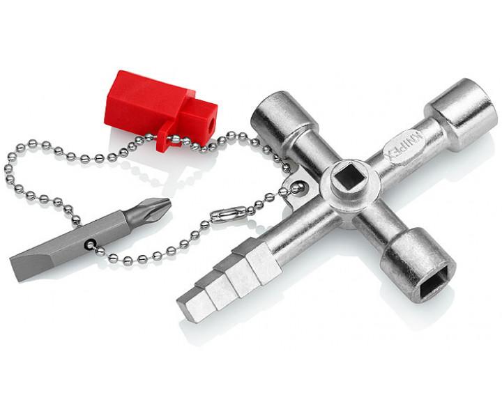 Ключ для электрошкафов профессиональный для распространенных систем запирания KNIPEX KN-001104