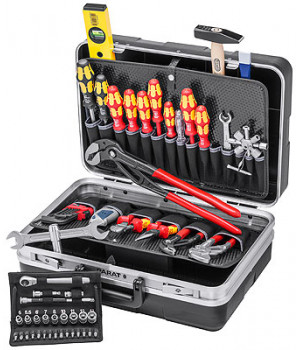 Чемодан для инструментов, сантехнический 24 предмета KNIPEX KN-002121HKS