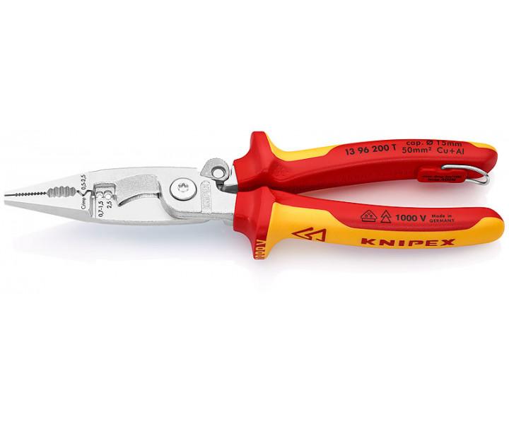 Многофункциональные клещи для электромонтажных работ KNIPEX KN-1396200T
