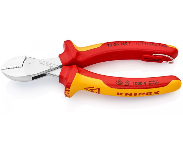 Компактные кусачки боковые X-Cut диэлектрические KNIPEX KN-7306160T