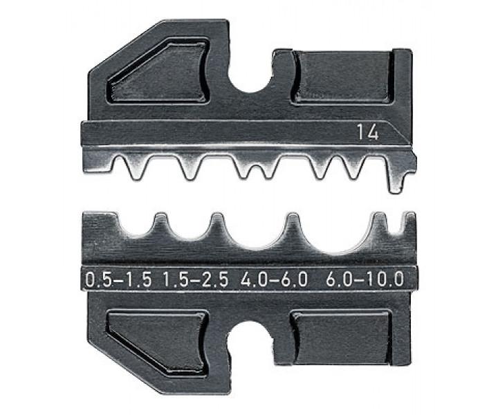 Плашка опрессовочная для прессуемых и трубчатых наконечников KNIPEX KN-974914