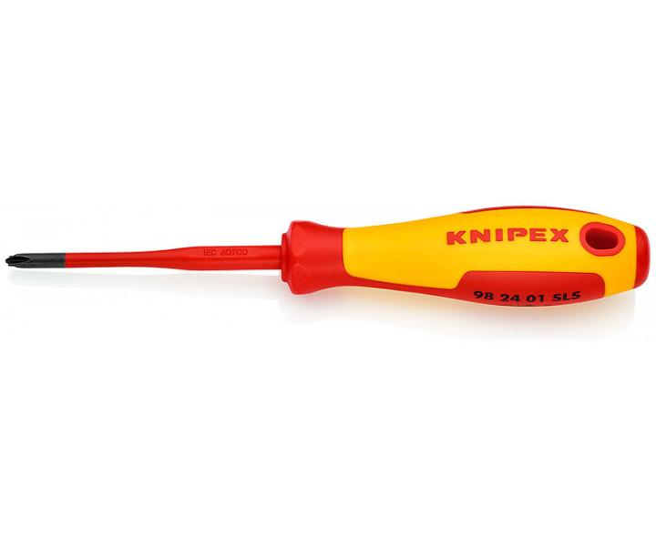 Тонкая отвертка для винтов с шлицем PlusMinus PH KNIPEX KN-982401SLS
